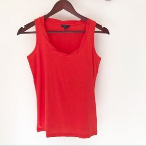 Talbots Red Tank with twisted neckline, size P